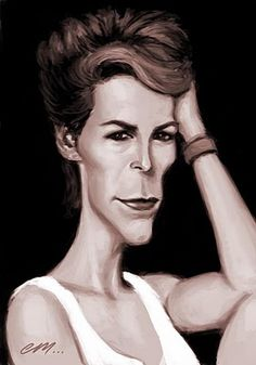 Jamie Lee Curtis..FOLLOW THIS BOARD FOR GREAT CARICATURES OR ANY OF OUR OTHER CARICATURE BOARDS. WE HAVE A FEW SEPERATED BY THINGS LIKE ACTORS, MUSICIANS, POLITICS. SPORTS AND MORE...CHECK 'EM OUT!! HERE ----> http://www.pinterest.com