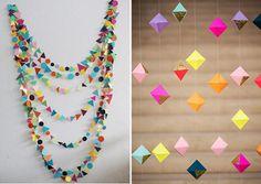Melicoto: DIY: Guirnaldas de papel y otros accesorios