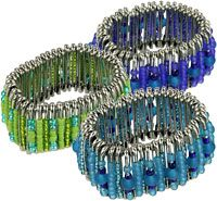 Safety pin bracelets  - Wow, I remember making these back in middle school. =)