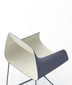 Bowling Nesting chair by US industrial designer & maker David Okum davidokum.com