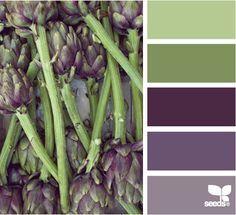 aubergine and green colour scheme - Google Search