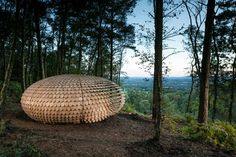 Perspectives by Giles Miller Studio - ParametricArchitecture Pergola Plans, Diy Pergola, Pergola Kits, Modern Pergola, Pergola Ideas, Wooden Path, Wood Shingles, London Design Festival, Pergola Lighting