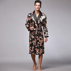0d4d1296bd Luxury Men Robe 2017 Couple Bathrobe Brand Faux Silk Robes Long Home  Clothing Male Sleep Robe XXL 5 Colors Summer Style