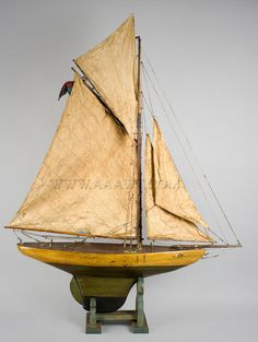 Pond Boat Fully Rigged, circa 1900
