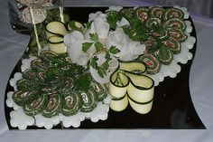 Vege Platter and Pinwheel Appetizers Tray Idea