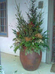 Spruce Tips are planted and harvested from the bogs of northern Minnesota. Make… – The Best DIY Outdoor Christmas Decor Outdoor Christmas Planters, Christmas Urns, Christmas Greenery, Christmas Arrangements, Outdoor Christmas Decorations, Rustic Christmas, Winter Christmas, Christmas Home, Christmas Wreaths