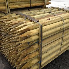 From 27.50 Fencing Stake 2.4m X 60mm Dia. (5 Pack)fence Post 8ft Treated Wood Tree Stake
