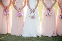 bridesmaids in blush | Theo Milo #wedding