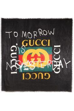5b7de064753 Gucci - Printed modal and silk-blend scarf