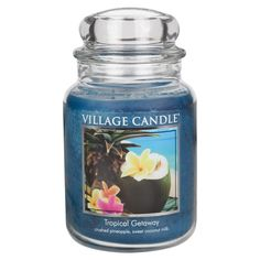 Village Candle Tropical Getaway Large Jar Candle | ACHICA