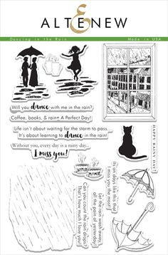 Dancing In The Rain Stamp Set