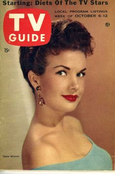This is a vintage TV Guide from Oct 6-12, 1965. Gale Storm Cover.