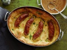 Toad in the Hole with Mustard-Onion Gravy
