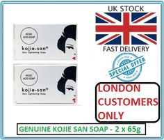 Genuine Kojie San Kojic Acid Skin Lightening Soap 2 x 65g