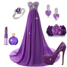 share ur dresses,shoes,accessories,hair styles,nail polishes nd much Lila Outfits, Party Dress Outfits, Evening Outfits, Evening Dresses, Elegant Dresses, Pretty Dresses, Casual Dresses, Formal Dresses, Sexy Gown