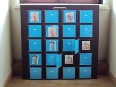 Tablero de memory con cajas de CDs