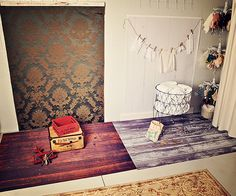 WISH I had enough room to have different stages set up like this for newborn sessions - awesome!