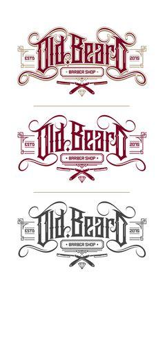 Old Beard (Barber Shop) Logo on Behance                                                                                                                                                                                 Más