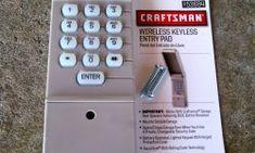 Sears Keypad Garage Door Opener Programming