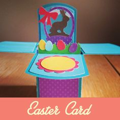 3D Easter Card made with silhouette cameo. Great idea for a diy easter craft. Easy step by step tutorial.