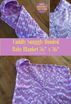 Cuddly Snuggly Hooded Crochet Baby Blankets | Crafts Ideas