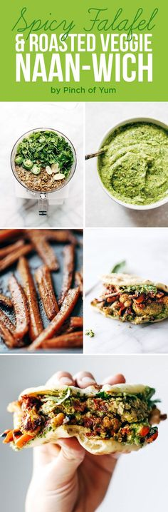 Spicy Falafel and Roasted Veggie Naan-wich | 7 Delicious Dinners That Are Great For Weeknights