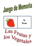 Spanish Fruit and Vegetables Memory Game (Can  be used for