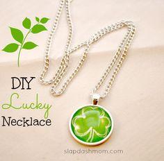 Glass Pendant Necklace Tutorial #diy #jewelry