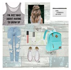 spring style ✅♡✅ by myltoumpe on Polyvore featuring polyvore fashion style Topshop Converse Dickies Bare Escentuals Wall Pops! clothing