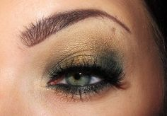 Pretty makeup for blue/green eyes