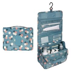 Oenbopo Colorful Travel Toiletry Bag Kit Cosmetic Makeup Storage Pouch  Organizer Foldabe Hanging Bag with Large c95cabd8cb339