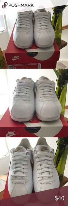 Nike Classic Cortez Nylon Kids White Black Shoes | Nike Cortez's |  Pinterest | Classic cortez, Nike classic cortez and Black shoes