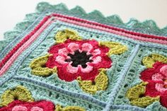 Ravelry: Painted Roses Blanket pattern by Sandra Paul - need to purchase pattern