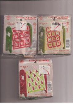 Stitch N Stand Quilt Rack Art Christmas Designs Lot of 6 Cross Stitch Kit #NeedleMagicInc #Ornaments
