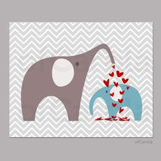 Boys Girls NURSERY PRINT  Kids Room Chevron Love by ofCarola, $15.00