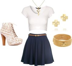 """""""White/Blue/Gold"""" by hanah626 on Polyvore"""