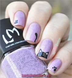 Top 32 Chic Black Cat Manicure Nails To Try Pretty And Modern Black Cat Nail Art Designs Ideas Cat appearance lovely and cute. sometimes folks like to have cats as their pets, i personally own a stunning cat and she or he is de facto keen on Cat Nail Art, Animal Nail Art, Cat Nails, Nail Art Diy, Food Nail Art, Kawaii Nail Art, Animal Fun, Trendy Nail Art, Cat Nail Designs