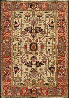 A classic Heriz design in perfect colors from one of our favorite rug maker adds up to a rug that looks great anywhere and will never go out of style. Hand knotted in Afghanistan from Ghazni wool and natural vegetal dyes. Home Depot Carpet, Diy Carpet, Wall Carpet, Carpet Stairs, Modern Carpet, Rugs On Carpet, Carpets, Carpet Ideas, Rugs