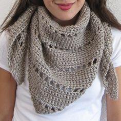 Royal Triangle Shawl (crochet) | She's Got the Notion