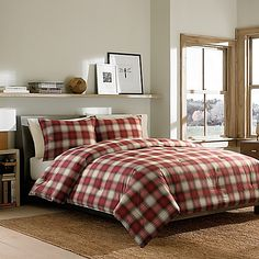 Eddie Bauer Navigation Plaid Twin Comforter Set In Red - Eddie Bauer Navigation Plaid Comforter Set is a classic red and khaki plaid pattern that creates a cozy and rustic feel in any bedroom. Red Comforter Sets, Plaid Comforter, King Comforter, Kohls Bedding, Red Bedding, Bedspread, Eddie Bauer, Console, Shabby