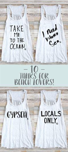 10 Tanks For Beach Lovers! Beach Tank Top | Surf Tank Top