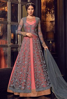 #achkan or slit style salwar kameez is the latest design of fashion industry, it is widly accepted by the young girl and woman, #Nikvik is the #bestseller of achkan or slit style salwar suits in #USA #AUSTRALIA #CANADA #UAE #UK