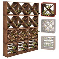 Système d'étagère à vin CUBE 50 tobacco module 4 standard - H50 x L50 x P25 cm: Amazon.fr: Cuisine & Maison