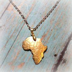 Gold Africa Necklace Uganda Adoption Fundraiser by alorasafari, $19.95 || I WANT THIS!!!: