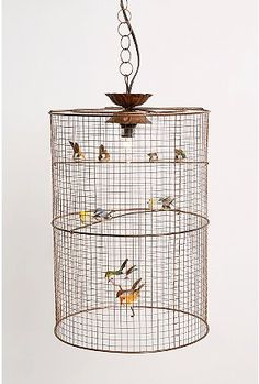 birdcage lamp: A whimsical lamp perfect over a corner chair.
