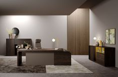 Sessanta / new finishes - Prof Office Home Office Space, Office Desk, Infinite, Furniture, Solid Colors, Woods, Environment, Study, Home Decor
