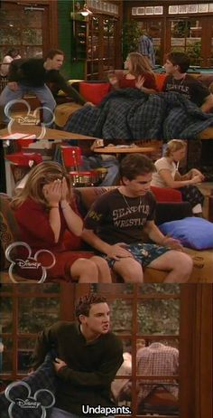 seeing the disney channel logo in the picture makes me feel old because I watched boy meets world on there every night.