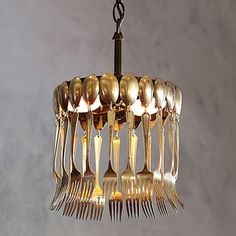 Home-Dzine - Not your average DIY lighting designs - Spoon Chandelier