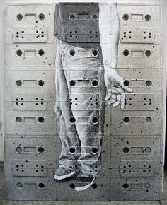 cassette tape art by Sami Havia