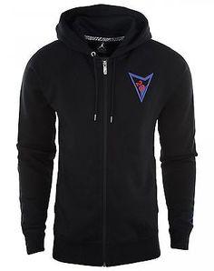 Nike Air Jordan 7 VII Fz Hoodie Mens 812982-010 Black Full Zip Hoody Size 2XL